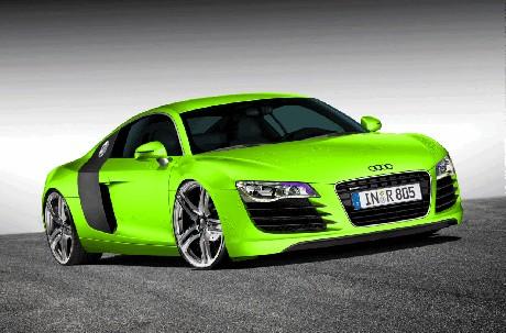 Audi r8 фото салатовый